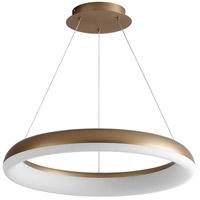Oxygen Lighting 3-63-40 Roswell LED 24 inch Aged Brass Pendant Ceiling Light