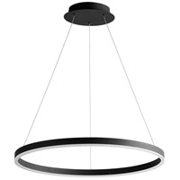 Oxygen Lighting 3-64-15 Circulo LED 24 inch Black Pendant Ceiling Light