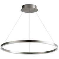 Oxygen Lighting 3-65-24 Circulo LED 32 inch Satin Nickel Pendant Ceiling Light