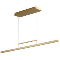 Oxygen Lighting 3-67-40 Stylus LED 48 inch Aged Brass Linear Pendant Ceiling Light