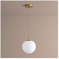 Luna LED 10 inch Aged Brass Pendant Ceiling Light