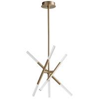 Oxygen Lighting 3-696-40 Moxy LED 28 inch Aged Brass Pendant Ceiling Light