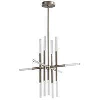 Oxygen Lighting 3-697-24 Moxy LED 32 inch Satin Nickel Pendant Ceiling Light