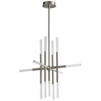 Oxygen Lighting 3-697-24 Moxy LED 32 inch Satin Nickel Pendant Ceiling Light