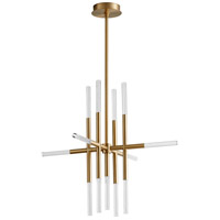Oxygen Lighting 3-697-40 Moxy LED 32 inch Aged Brass Pendant Ceiling Light
