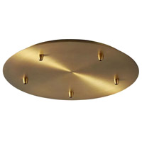 Oxygen Lighting 3-8-6540 Signature Aged Brass Multi Pendant Canopy