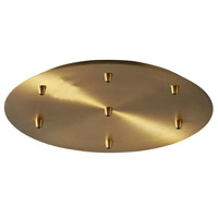 Oxygen Lighting 3-8-6740 Signature Aged Brass Multi Pendant Canopy