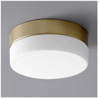 Oxygen Lighting 32-630-40 Zuri LED 7 inch Aged Brass Flush Mount Ceiling Light