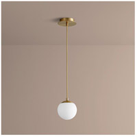 Luna LED 6 inch Aged Brass Pendant Ceiling Light