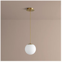 Luna LED 8 inch Aged Brass Pendant Ceiling Light