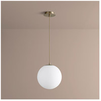 Luna LED 12 inch Aged Brass Pendant Ceiling Light