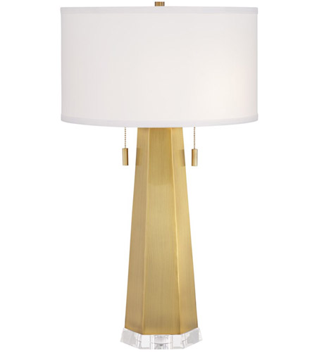 Brushed Brass Crystal Table Lamps