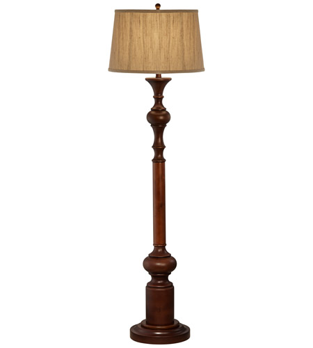 madison avenue 62 inch 100 watt brown floor lamp portable light photo. Black Bedroom Furniture Sets. Home Design Ideas