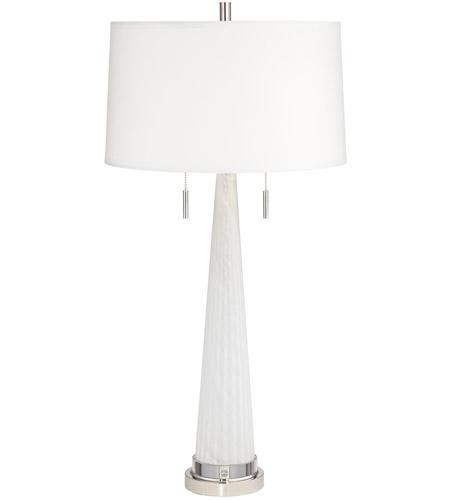 Pacific Coast 14h80 Zoe 33 Inch 150 Watt White Table Lamp Portable Light