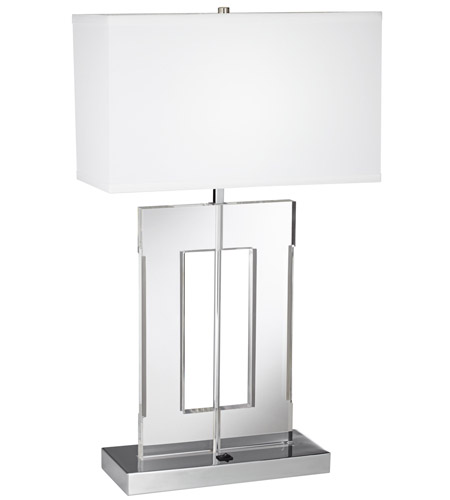 Signature 26 Inch 26 Watt Metal And Acrylic Table Lamp Portable Light
