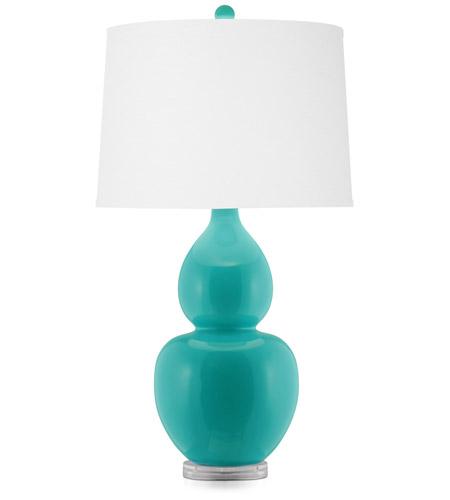 signature 33 inch 150 watt turquoise table lamp portable lig