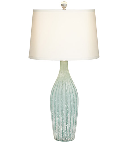Pacific Coast 87 7775 51 Melanza 31 Inch 150 Watt Light Green And Celadon  Table Lamp Portable Light