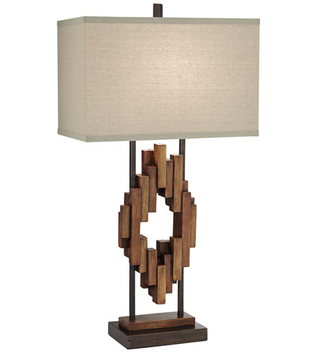 Wood Tone Table Lamps