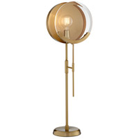 Pacific Coast 11W56 Maddox 31 inch 60 watt Brushed Antique Brass Plated Table Lamp Portable Light