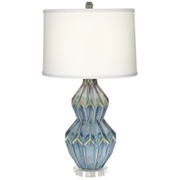 Pacific Coast 13Y76 Avalon 30 inch 150 watt Turquoise Table Lamp Portable Light