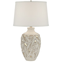 Pacific Coast 16R41 Palm Bay 26 inch 150 watt Beige Almond Table Lamp Portable Light with Nightlight