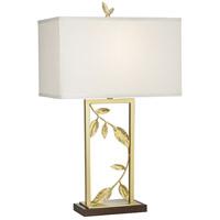 Pacific Coast 16P49 Golden Leaves 28 inch 150 watt Gold Table Lamp Portable Light
