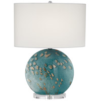 Pacific Coast 87-8446-51 Calypso 23 inch 150 watt Blue-Sea Table Lamp Portable Light