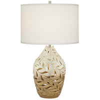 Pacific Coast 20E83 Venetian Shores 28 inch 150 watt Multi-Beige Blend Table Lamp Portable Light photo thumbnail