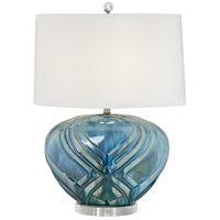Pacific Coast 20P31 Ovatar 23 inch 150 watt Blue Table Lamp Portable Light, Oval photo thumbnail
