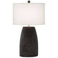Pacific Coast 21W77 Morticia 30 inch 150 watt Charcoal Table Lamp Portable Light