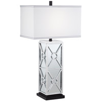 Reflections 31 inch 150 watt Antique Silver Leaf Table Lamp Portable Light, Kathy Ireland