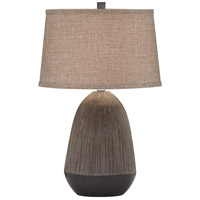 Pacific Coast 31G37 Alex 26 inch 150 watt Charcoal Table Lamp Portable Light photo thumbnail