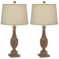 Pacific Coast 35G43 Collier 28 inch 150 watt Bronze w/ aged Patina Table Lamp Portable Light Set of 2