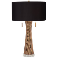 Pacific Coast 37T12 Lombardy 28 inch 75 watt Brown Table Lamp Portable Light