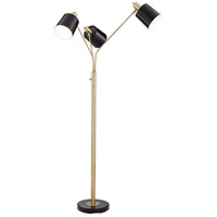 Pacific Coast 37T91 New York Studio 71 inch 40 watt Antique Brass Floor Lamp Portable Light