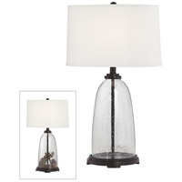 Pacific Coast 37V13 Emerson 27 inch 100 watt Painted Brushed Bronze Table Lamp Portable Light