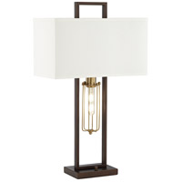 Pacific Coast 37V26 Magee 31 inch 60 watt Bronze-Rubbed Table Lamp Portable Light with Nightlight