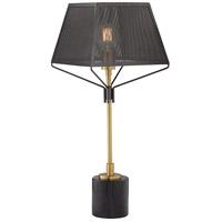 Pacific Coast 37V27 Vejen 28 inch 100 watt Gun Metal Table Lamp Portable Light