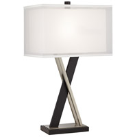 Pacific Coast 37V34 Xavier 28 inch 150 watt Black Table Lamp Portable Light
