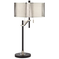 Pacific Coast 37V42 Natalie 30 inch 60 watt Black Table Lamp Portable Light