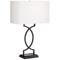 Pacific Coast 42G92 Modern Rome 30 inch 150 watt Black Table Lamp Portable Light