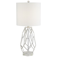 Pacific Coast 43Y08 Trellis 30 inch 150 watt Silver Leaf Table Lamp Portable Light
