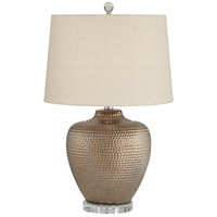 Pacific Coast 43Y13 Auburn 24 inch 100 watt Copper Bronze Table Lamp Portable Light