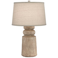 Pacific Coast 44T80 Totem 28 inch 100 watt Natural Wood Tones Table Lamp Portable Light