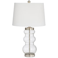 Pacific Coast 45P86 Morton 26 inch 100 watt Clear Table Lamp Portable Light