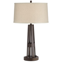 Pacific Coast 46R03 Crown Heights 28 inch 100 watt Bronze Table Lamp Portable Light