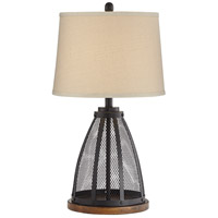 Pacific Coast 56J23 Mansfield 28 inch 100 watt Black Table Lamp Portable Light