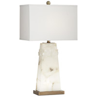 Pacific Coast 56J41 Beaumont 27 inch 100 watt White Table Lamp Portable Light with Nightlight