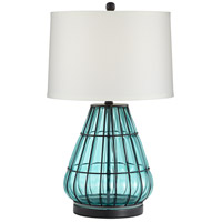 Pacific Coast 56K07 Jaylin 29 inch 100 watt Aqua Table Lamp Portable Light