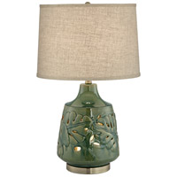Pacific Coast 58M33 Green Leaves 26 inch 150 watt Green Table Lamp Portable Light with Nightlight